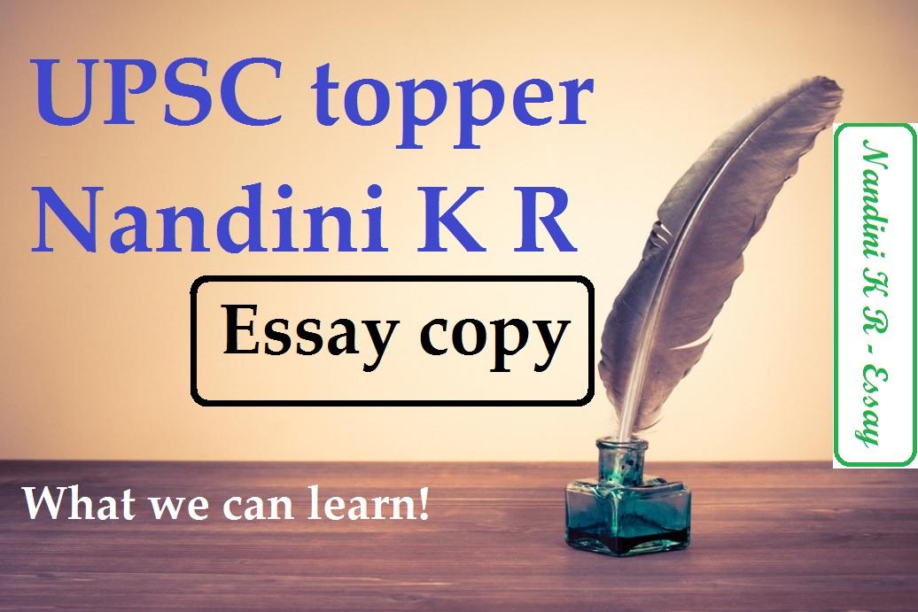 upsc essay | toppers copy | nandini kr