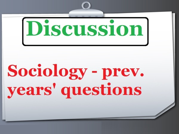 upsc sociology | previous year questions