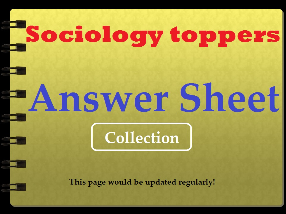 upsc sociology | toppers answer sheet | movitation