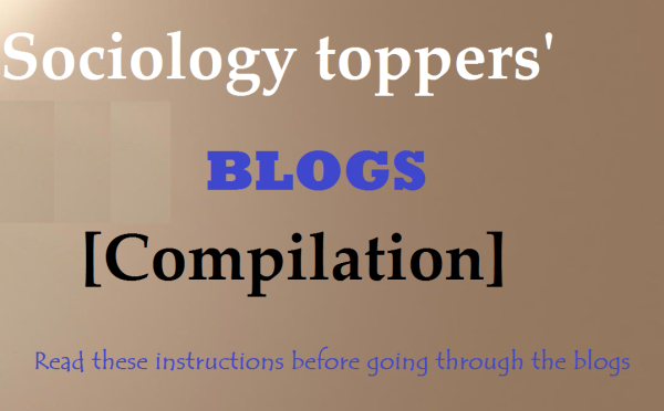 upsc sociology | blog | upsc sociology topper blog