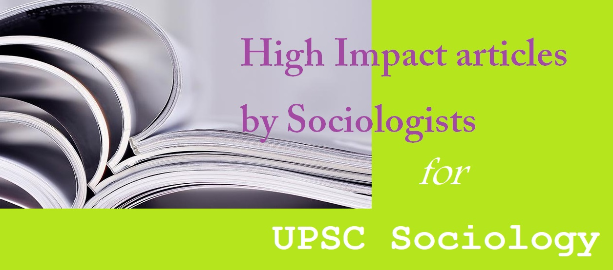 upsc sociology | notes for upsc sociology | upsc sociology toppers