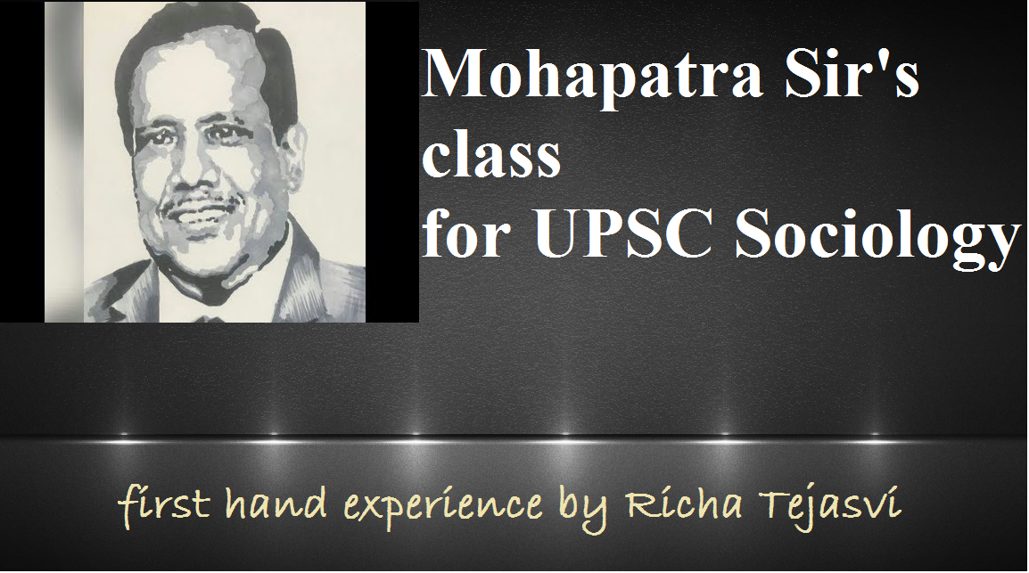 upsc sociology coaching | mahapatra sir | upsc sociology