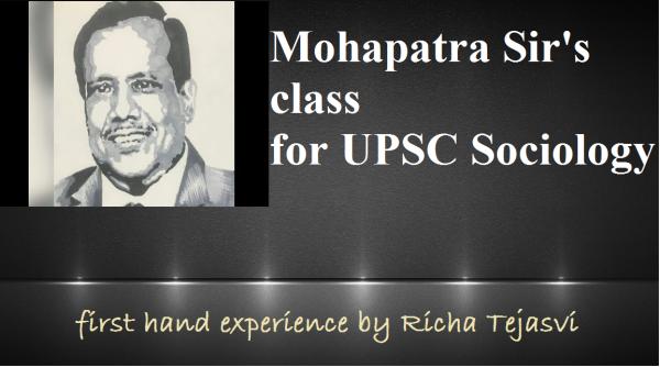 upsc sociology coaching | mahapatra sir | upsc sociology