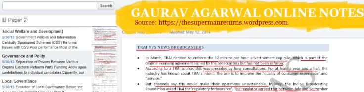 Gaurav Agarwal online notes